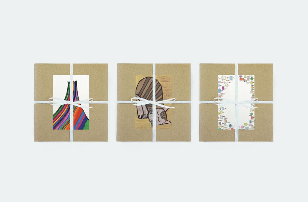 アートが選べるポストカード付きの贈り物