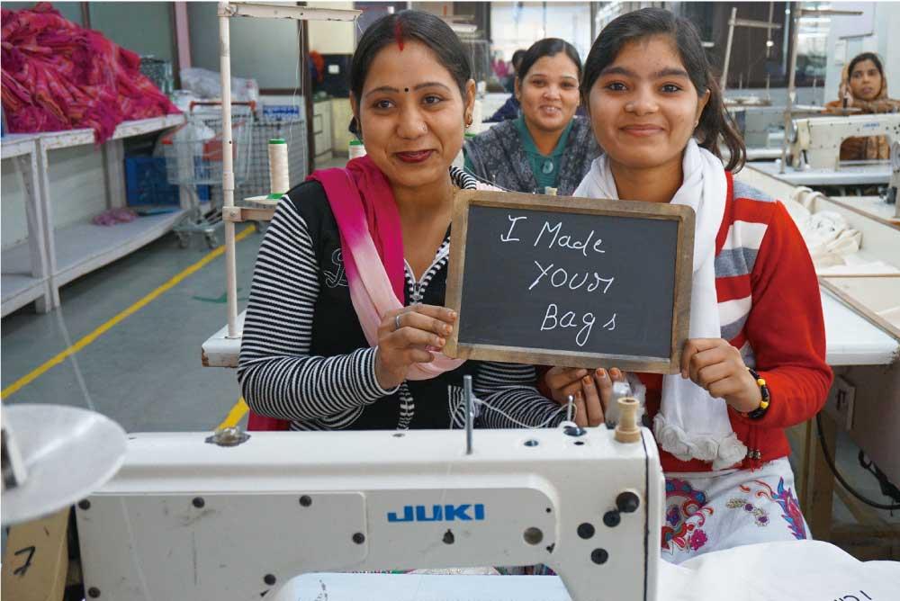 インドの縫製工場